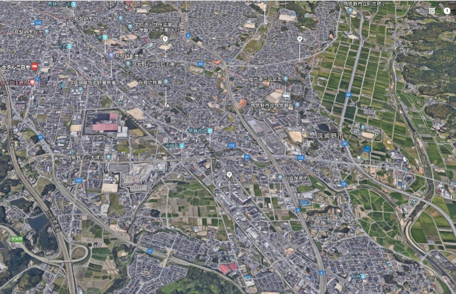 福岡県筑紫野市上空