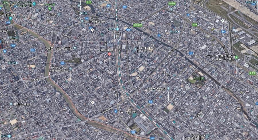 福岡市博多区上空写真