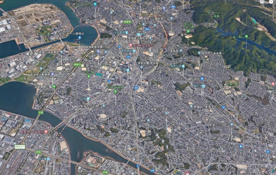 福岡市東区上空