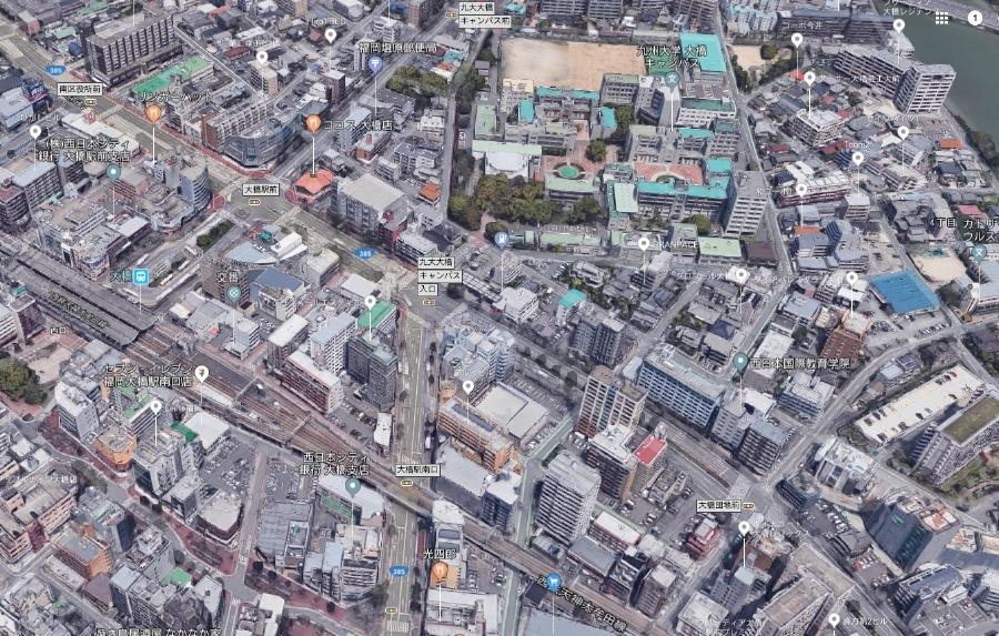 福岡市南区上空写真