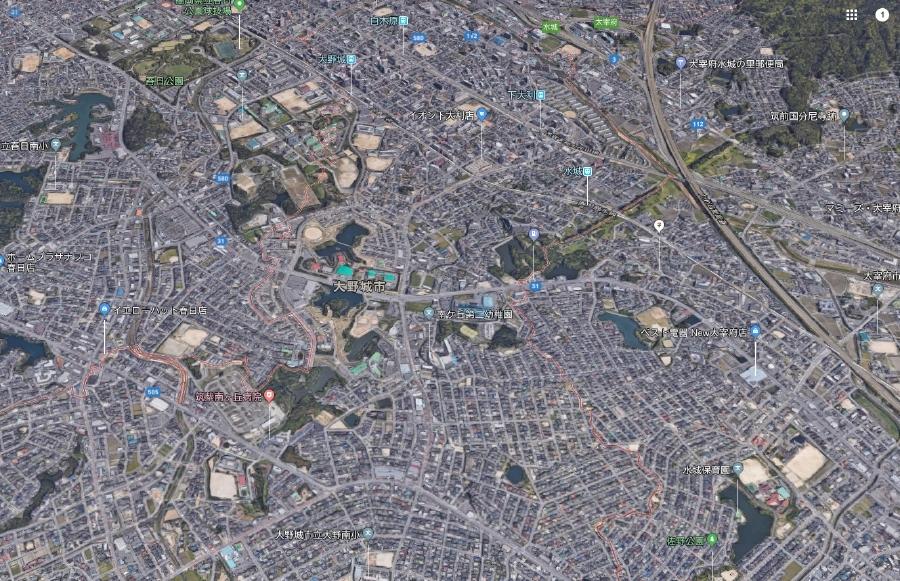 福岡県大野城市上空写真