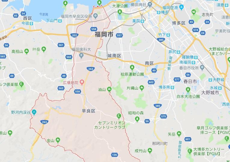 福岡市早良区地図