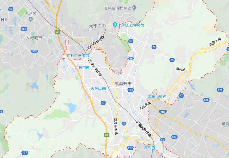 筑紫野市地図