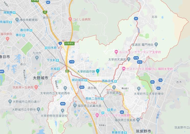 太宰府市地図