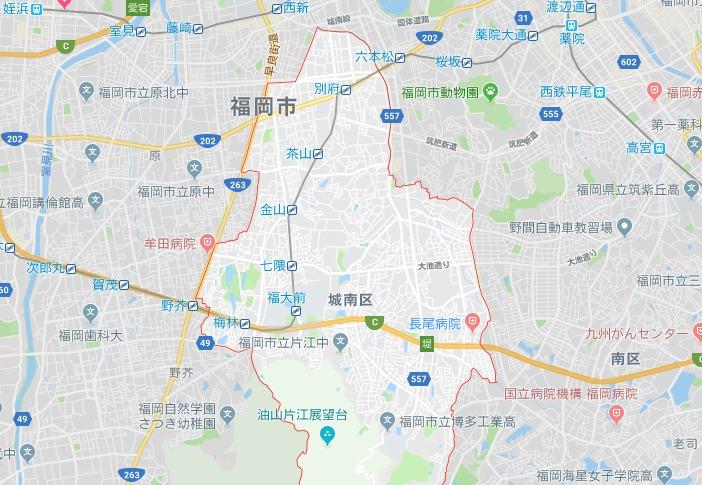 福岡市城南区地図