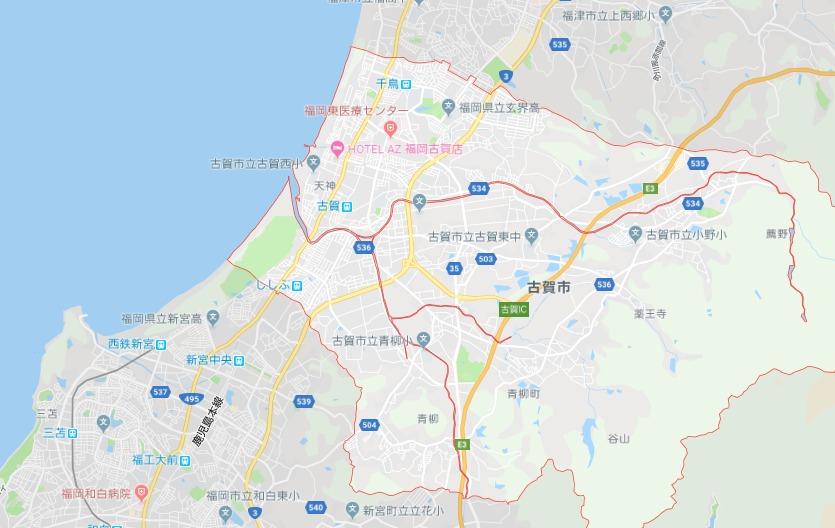 古賀市地図