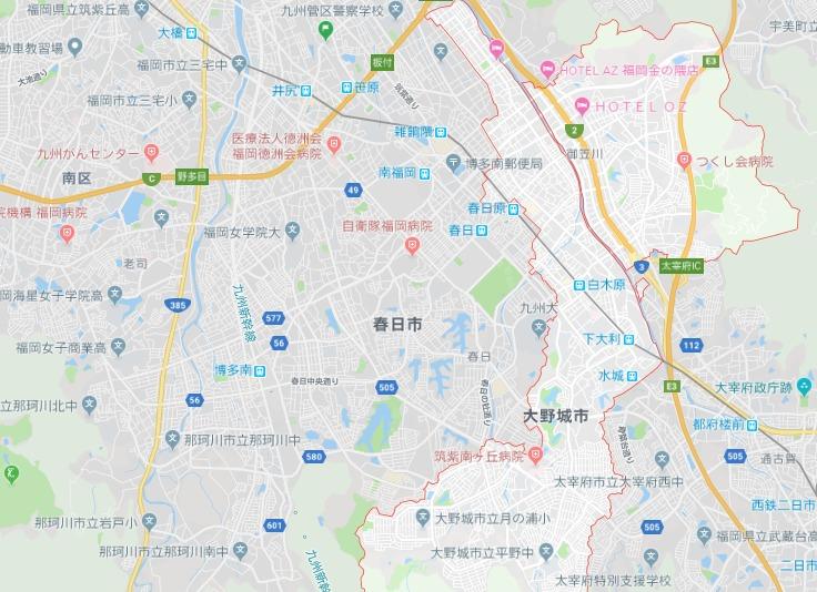 大野城市地図
