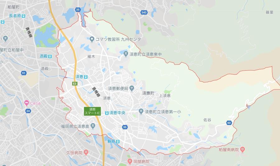 糟屋郡須惠町地図