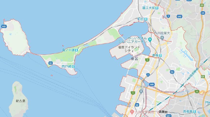 福岡市東区地図