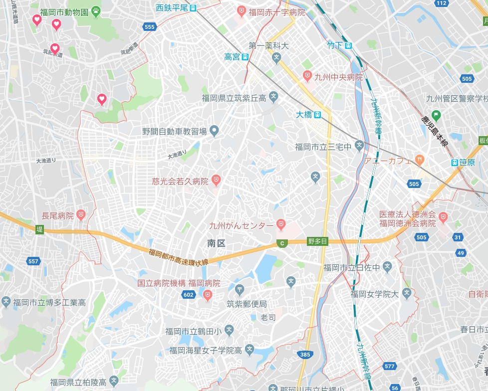 福岡市南区地図