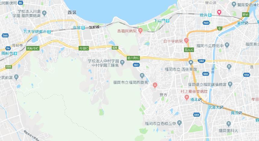 福岡市西区地図