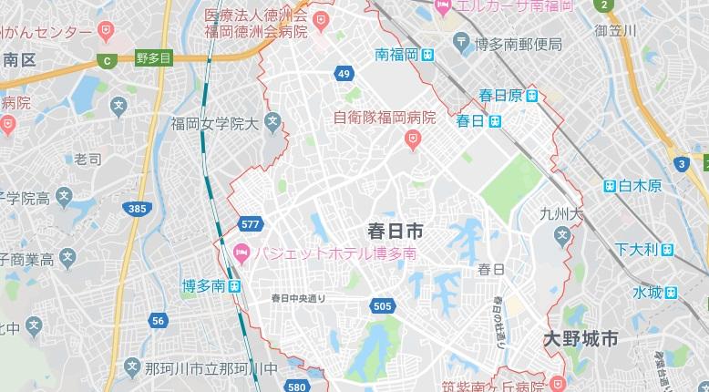 春日市地図