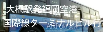 大橋駅発福岡空港国際線ターミナル行西鉄バス