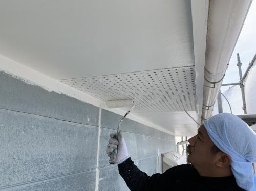 屋根の塗装 軒天部分
