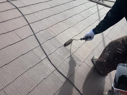 屋根の塗装 仕上塗り