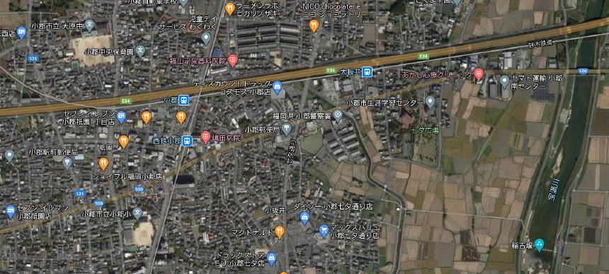 福岡県小郡市上空